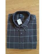 Mens G. H. Bass & Co. Dark Green Blue Red Plaid cotton Long sleeve Shirt... - $13.37