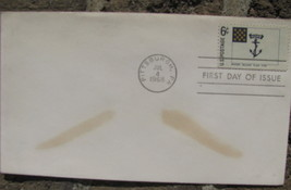 USA FIRST DAY OF ISSUE STAMP COVER Rhode Islands flag HOPE 1775 - $9.98