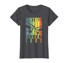 New Shirts - August 1982 t shirt Vintage Retro 36th Birthday Tshirt Gift... - $19.95+