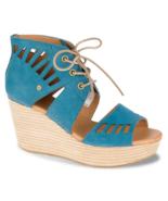 CAT-Caterpillar Women's Alma Legion Blue Platform Wedge Sandal, Size 11 - $29.69