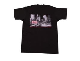 NOS Vtg 80s Dingo Boots Spell Out Short Sleeve T-Shirt Black Mens XL USA Made - $19.75