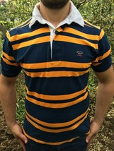 Superb Paul & Shark Polo T-Shirt Rhode Island Button Cotton Striped Blue... - $54.35