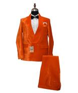 Men Orange Two Piece Suits Designer Elegant Dinner Party Wear Wedding Suits - $199.99