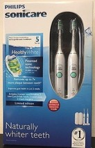 Philips Sonicare Healthy White Rechargeable Electric Toothbrush 2 Pack 5... - $119.99