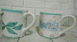 Two Starbucks Rosanna Imports Espresso 4 oz Ceramic Mugs Made In Italy - $9.52