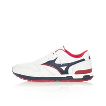 SNEAKERS HOMME MIZUNO GV87 SP D1GA190737 TENNIS SHOES LEATHER Bianco - $81.37