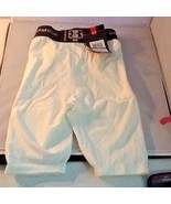 Under Armour Boy's Compression Shorts YLG Youth Large White Black Band - $16.99