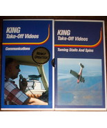 2 VHS Tapes - King Take-Off Videos - Communications & Taming Stalls and ... - $9.80