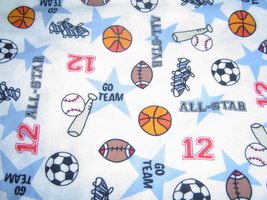 All Star Sports Fabric Cotton Sewing Fabric - £16.71 GBP