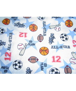All Star Sports Fabric Cotton Sewing Fabric - £16.82 GBP