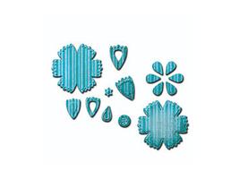 Spellbinders Shapeabilities D-Lites Crafty Flower Six Die Set #S2-173