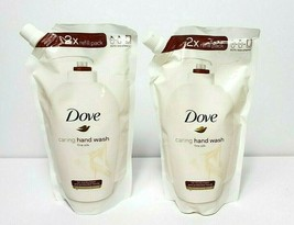 2xDove Caring Hand Wash Fine Silk 16.9 fl oz Refill Packs Lot of 2 Sealed New - $24.18