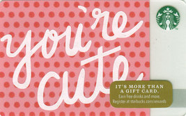 Starbucks 2014 You're Cute Collectible Gift Card New No Value - $3.99