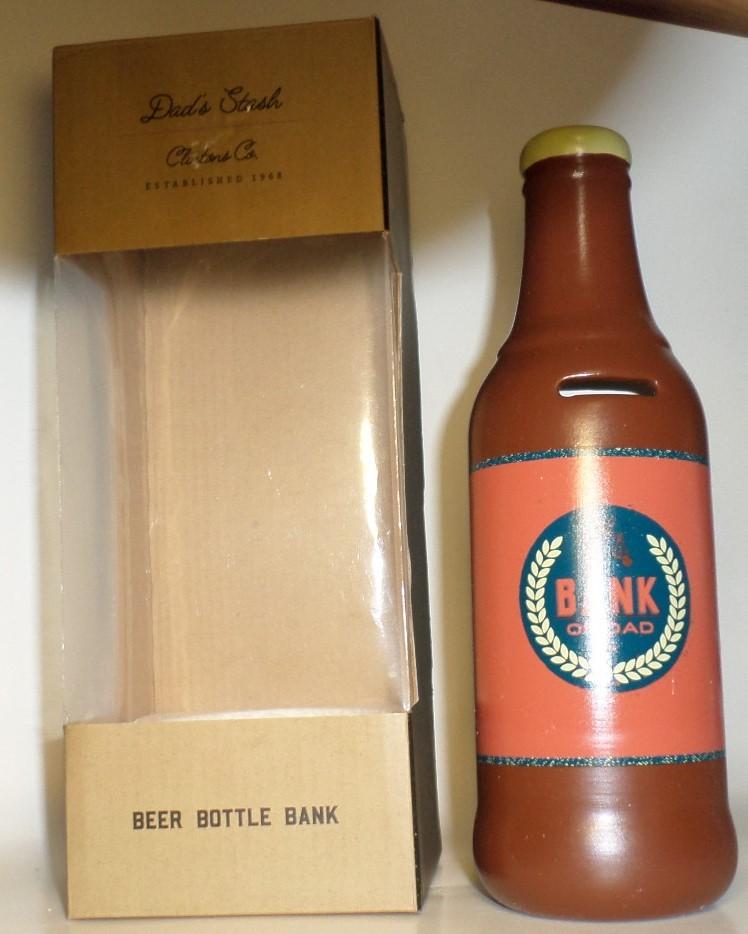 Beer Fund Bottle Bank gift orange brown Schurman Fathers Day birthday