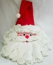 "Vintage Bleach Bottle Santa Claus Wall Door Decoration 21"" Handmade  - $21.77"