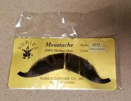 Rubies Mustache Halloween Costume Prop Real Human Hair Handle Bars Med B... - $9.69