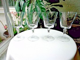 Set of 4 Cris D'Arques Chantilly Clear Crystal Water Glasses Multiple Available - $23.76