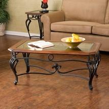 Classic Coffee Table Home Living Room Furniture Rectangle Dark Brown Woo... - $288.54
