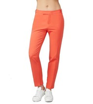 Rachel Roy Womens Fitted Straight-Leg Ankle-Zip Trouser Pants 2 Poppy Or... - $17.42