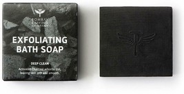 Charcoal Deep Cleansing Bath Soap Coffee granules with Anti-Pollution E... - $11.07