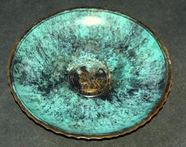 Israel Vintage Bronze Verdigris Tray Plate 1960's Isaiah 11 Signed Pal Bell image 2