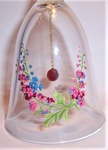 1986 Avon Birthday Bell issue for July, Larkspur flower with Ruby bead clapper - $13.00