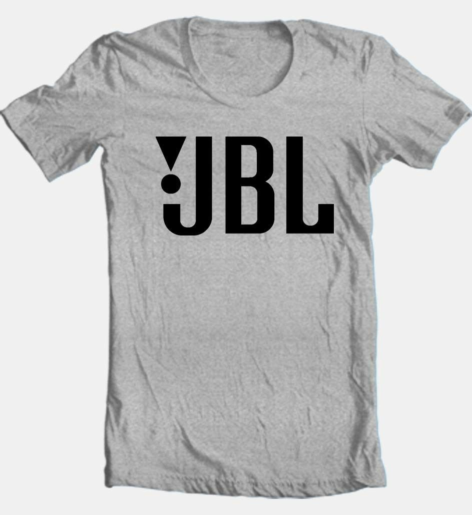 JBL T-shirt Free Shipping cotton blend grey tee car stereo speaker sound system