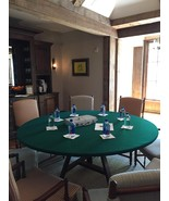 """FELT poker table cover fits 72"""" LIFETIME ROUND TABLE - CORD/ BL PLUS STO... - $85.00"""