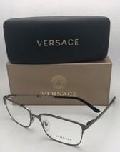 New VERSACE Eyeglasses 1232 1262 56-16 145 Brushed Gunmetal Rectangular Frames