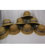 8 OBERON SAFARI HATS STRAW LRG MENS ANIMAL PRINT BANDS BLACK BROWN SPOTS STRIPES - £32.62 GBP