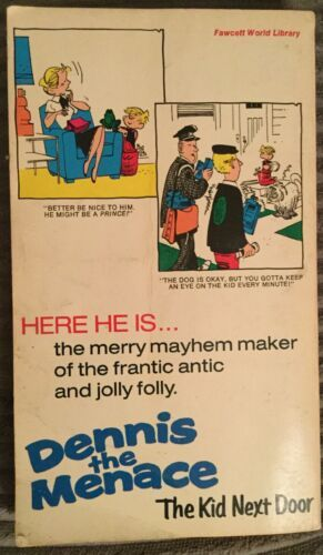Dennis the Menace Comic Book (October 1973 Fawcett) The Kid Next Door