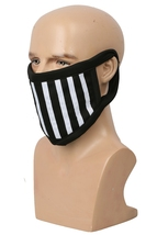 XCOSER Ticci Toby Face Mask Black & White Stripes Cotton Face Mask - $26.35 CAD