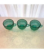 3 Teal Sandwich Coffee Cups by Tiara Indiana - $17.99