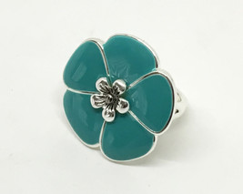 Premier Designs LUAU Ring 1641• Silver Turquois... - $18.66