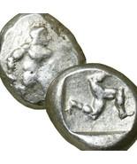 HOPLITE Greek Warrior Triskeles 450 BC Apsendos Ancient Greek Silver Sta... - $305.10