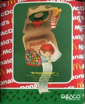 1990 New in Box - Enesco Christmas Ornament - McHappy Holidays - #577529 - $7.12