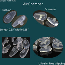 screw push on eyeglass NOSE PADS  air bag High Quality SILICONE   US Se... - $1.87+