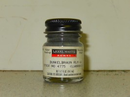MODEL MASTER ACRYLIC PAINT- 4775 DUNKELBRAUN- 1/2 FL.OZ- NEW- L108 - $4.79
