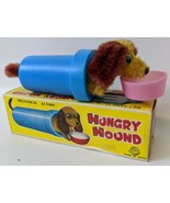 Vintage 1960's (United, Japan) Wind-up Mohair HUNGRY HOUND Dog Eating To... - $45.00