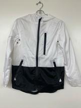 Southpole Boy's Colorblock Water Resistant Windbreaker Hooded Jacket Whi... - $19.30
