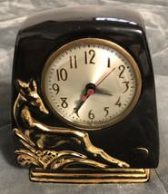 Vintage Antelope Gazelle Deer Sessions Clock - Howell China 22 kt GOLD - $29.69