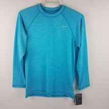 Nike Mens Dri Fit Long Sleeve Shirt Blue Size Small NESS7504 430 MSRP $52 - $31.96