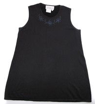 MotherHood Mother Hood Black Maternity Sleeveless Knit Top Beaded S M - $9.89