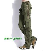 Plus Size Unisex Cargo Pants Casual Jogger Pants Mens Military Army Green Pants