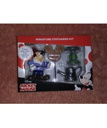 Disney Mickey Mouse Miniature 4 Piece Statuaries Kit New In Box - $17.99