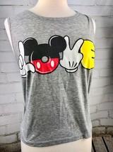 Mickey Mouse Love Tank Top T-Shirt Women's M Disney Muscle Sleeveless - $28.71