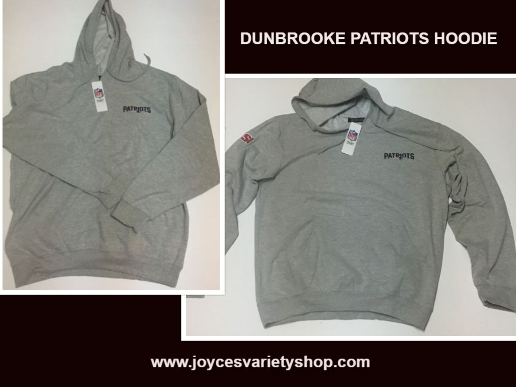 New England Patriots Dunbrooke Gray Hoodie NWT Sz XL