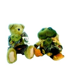 Vintage 1999 Boyds Bears G Kelly Ribbit and Hunter Bearsdale with Tags - $27.12