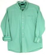 Tommy Hilfiger Mens Medium Long Sleeve Dress Shirt Green, Plaid (F31) - $18.70