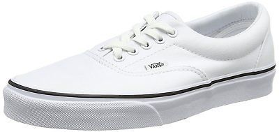 VANS ERA TRUE WHITE BLACK MENS 3.5 WOMENS 5 NIB SKATE NEW